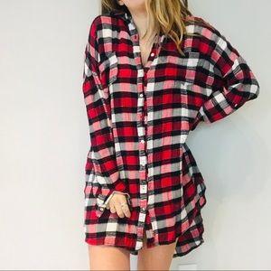 UO Rehab plaid flannel dress